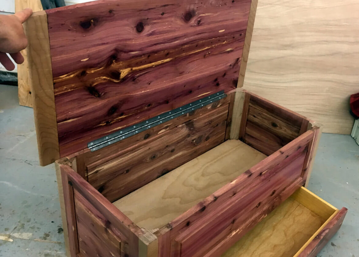 Cedar Chest with Bread Board End Top